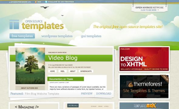 open source template engine - open source templates cssbay the best design arround